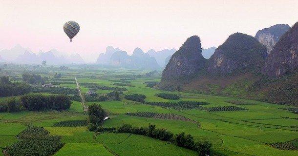 Vol en montgolfière au-dessus de Yangshuo