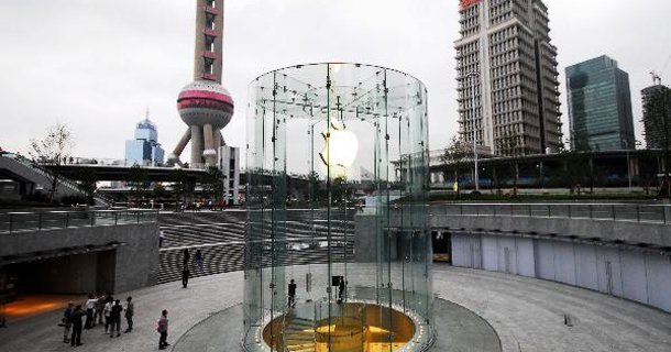 Apple store a Shanghai Lujiazui