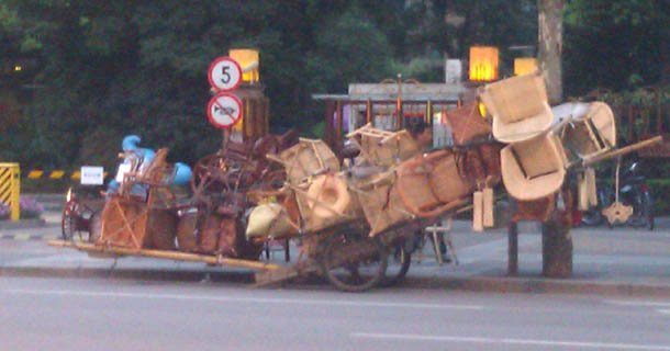 Le transport insolite en Chine