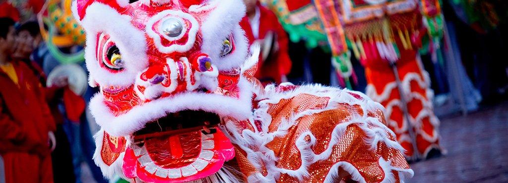Danse du lion et dragon