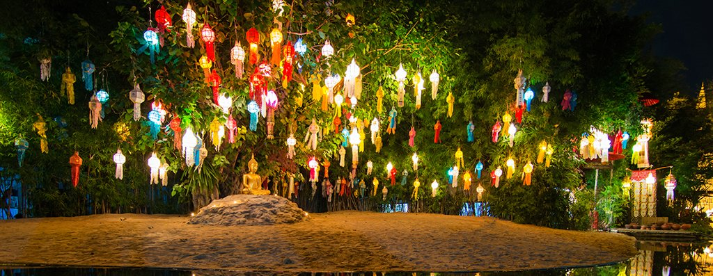 Taïwan, lanternes, temple