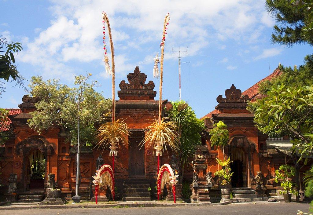 Ville déserte, temple Bali