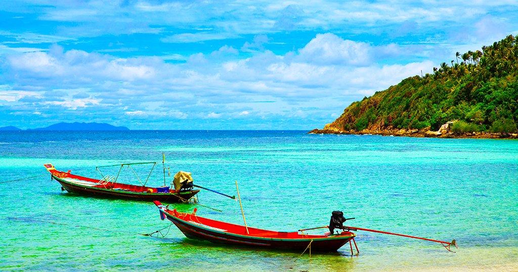 Plage de Haad Rin, île de Koh Pha Ngan